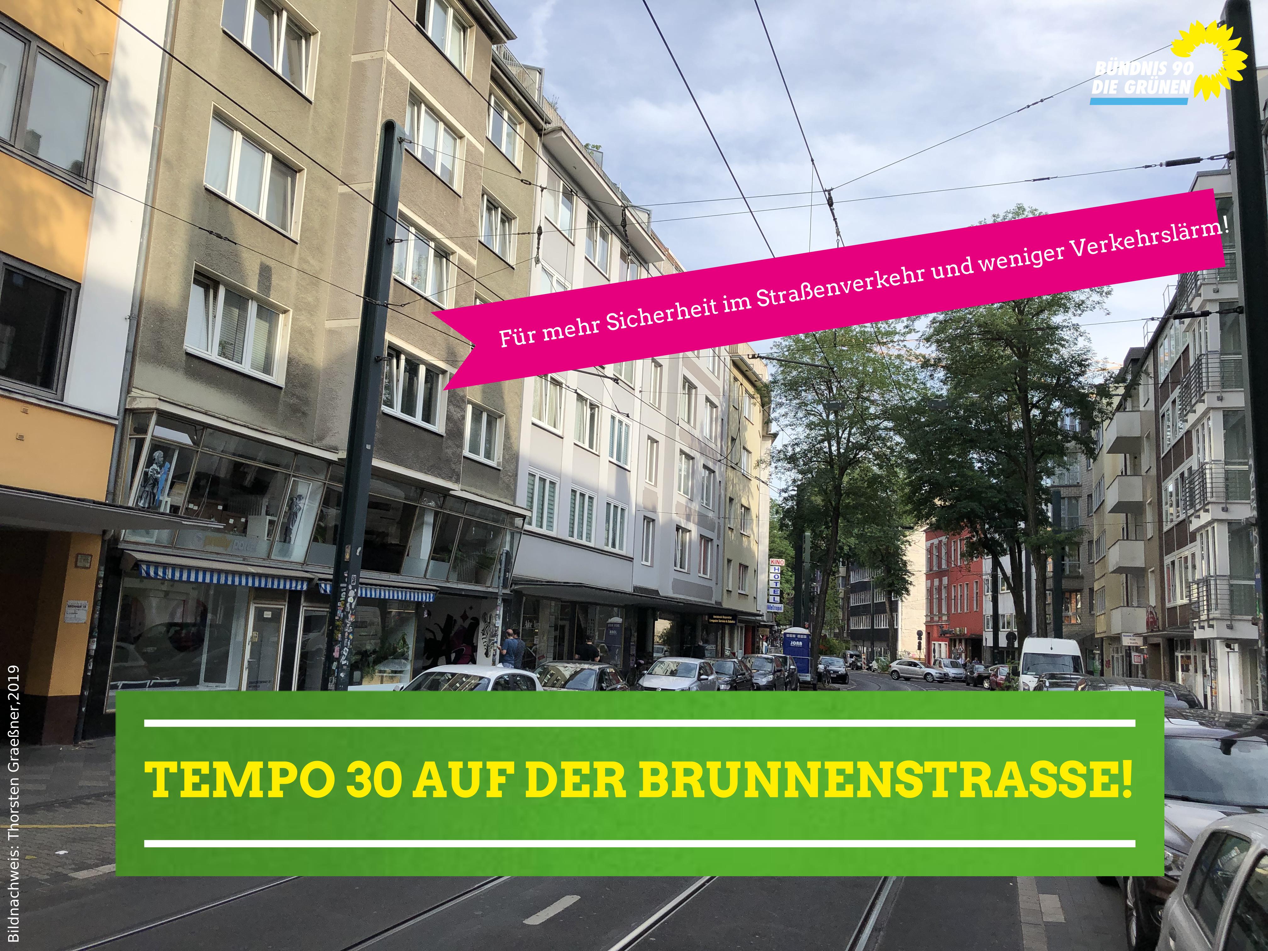 Tempo 30 auf der Brunnenstraße