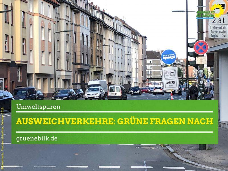 Ausweichverkehre Umweltspuren im Stadtbezirk 3